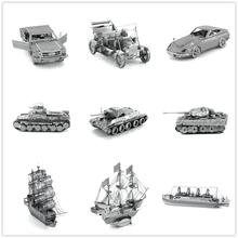 Civil transport 3D car Planes Ship/Led zeppelin/D51/Boeing 747/Titanic Chinese ICONX Metal model Nano Originality Puzzles