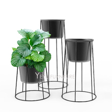 Modern design Metal Flower Plant Pot Rack, Simple Design metal organizations storage basket, Loft fashion floor stand plant pot