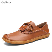 Fashion Leather Shoes Men Loafers Breathable Soft Moccasins Men Shoes Casual High Quality