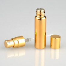 Spot supply 5ml anodized aluminum UV glass tube perfume Gold and silver refillable bottles Large quantity, more favorable price(China)
