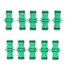 10pcs/lot ABS Plastic Garden Hose Pipe Tool Connector Washing Water Splitter For Garden Hose Fast Connector(China)