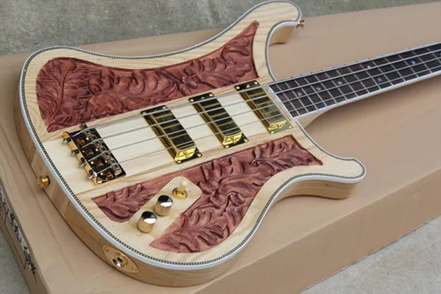 Brand New High Quality Neck Thru Body Electric Bass With 3 Pickups ...