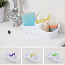 New Toilet Organizer Storage Set Box Plastic Comestic Soap Holder with Bottle Storage for Office Bathroom Kitchen Accessory(China)