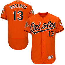 MLB Men's Baltimore Orioles Manny Machado Alternate Black On-Field Flex Base Authentic Jersey with Patch(China)