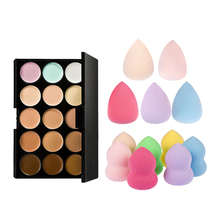 15 Colors Contour Face Cream Makeup Concealer Palette + Sponge Puff By Random For Your Best Choice(China)