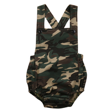 Camouflage Newborn Baby Romper Clothes 2017 New Summer Sleeveless Infant Bebes Boys Girls Fashion Toddler Kids Jumpsuit Sunsuit(China)