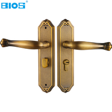 BIOS Interior door locks Double Security Entry Mortise house door Lock Set Zinc Alloy gate locks safe handle keylock B0829(China)
