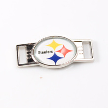 2017 New Pittsburgh Steelers USA Football Team Logo Shoelace Charms For New Sneakers Football Sport Shoes Decoration 10pcs/lot