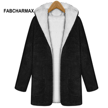 Buy FABCHARMAX women jacket winter hoodies autumn warm cashmere coat pockets fur manteau femme hiver woman winter coats jackets for $19.99 in AliExpress store