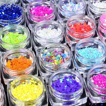 2017 New Arrival Round Star Heart Shape Nail Glitters Colourful Stone Nail Tip Decorations DIY Nail Polish Tools Salon Supplier