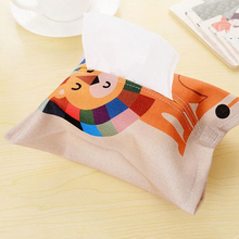 1Pc Creative Fabric Fashion Cute Cartoon Animal Tissue Paper Pumping Storage Cotton Linen Box Home Table Decorations Accessories