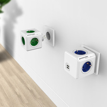 XT-XINTE High Quality Allocacoc Germany Power Extension Adapter Socket/Multi Switched Socket with Dual USB Ports