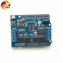 Official DOIT 2-Way Motor & 16-Way Servo Shield Board Compatible with Arduino for Mobile Robot Arm