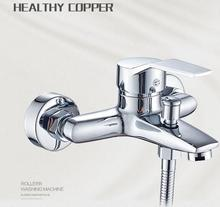 Bathtub Shower Faucet copper concealed shower Mixer Valve control switch taps In-Wall bathroom Triple faucet with water outlet