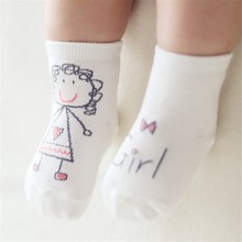 Baby Socks Newborn Spring Autumn Anti Slip Cartoon Toddler Socks Asymmetry Pattern Sock For Baby 0-24 Months CL1017(China)