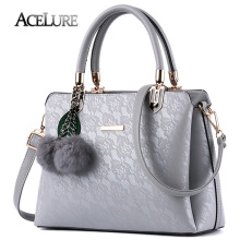 ACELURE Women Fur Handbags 2017 High Quality Printing Women Bags Women PU Leather Shoulder Messenger Bags Sweet Tote Bag Bolsa(China)