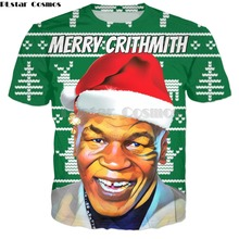Christmas-T-Shirt Merry-Crithmith Tyson-Print Summer Fashion Casual Plstar Cosmos Men's