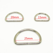 2pcs 15mm 20mm 25mm Metal D ring buckles camera shoulder strap buckle DIY Needlework Luggage Sewing handmade Bag purse buttons