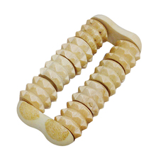 Wooden Massage Wood Roller Hand Held Massager Stress Relief Health Relax Therapy Body Relaxation 2 Raw