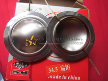 "2 pcs ID: 34.5mm 1.358"" Flat aluminium wire Titanium Dome Diaphragm 8ohm tweeter speaker voice coil(China)"