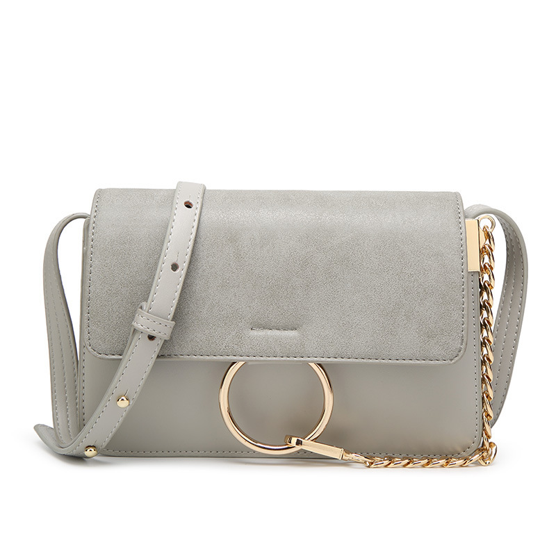 Womens retro pu leather handbag,chain ring, famous brand,grey shoulder lady bag,for girls<br><br>Aliexpress