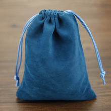 Small Jewelry Bags 7x9 cm Drawstring Velvet Pouches for Jewelry Packaging Pouches High Quality Christmas Gift Bag 50pcs(China)