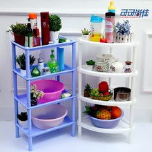 Plastic bathroom shelf toilet basin bathroom toilet storage shelving triangular floor shelf