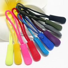 20pcs/lot Zipper Pulls Cord Rope Ends Lock Zip Clip Buckle Black For Backpack/Clothing Accessories