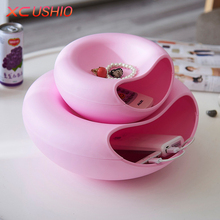 Creative Snacks Storage Box Desktop Storage Organizer Kitchen Bathroom Cosmetic Shelf Garbage Container Tableware Storage Holder(China)