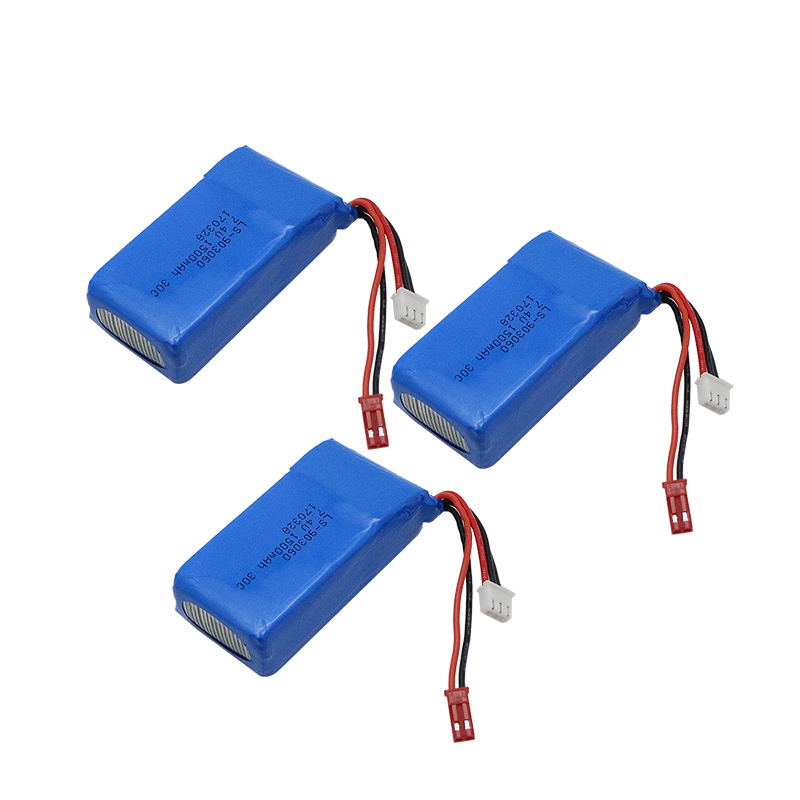 3pcs lipo battery 2s 7.4V 1500mah 30C+EU charger For Quadcopters Helicopters RC Cars Boats High Rate batteria lipo car parts