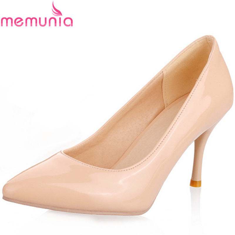 Large Size 34-45 New Fashion high heels women pumps stiletto high heel classic white red nude beige sexy prom wedding shoes<br><br>Aliexpress