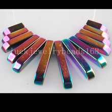 Free Shipping Women Fashion Jewelry Multicolor Non-Magnetic Hematite Pendant Bead 13pcs C2729