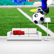 Custom home decor football sports photo papel de parede wall paper moderno mural wallpaper for boys kids room bedroom wall decal