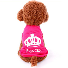 Pet Dog Clothes For Small Dog Puppy Vest Spring summer T-shirt Pet Shirt Cute Dog Vest princess pajamas pet Cat Clothes Costume