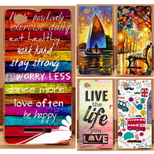 1PC/lot Happy London Sailing Ship Blue Rose PC Print Case For Sony Xperia M Dual C1905 C1904 C2004 C2005 Cell Phone Case Cover