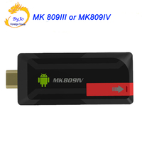 NEWest 4K Upgrade MK809IV or MK809III TV Dongle Stick Android TV Box RK3229 Quad Core 2G 8G 2G 16G Mini PC WiFi Android box 4K