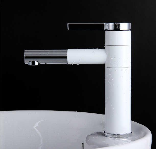 2014- wholesale sale Luxury Basin Faucets. brass chrome white basin faucet basin mixer tap water tap,tall basin taps hotels<br><br>Aliexpress