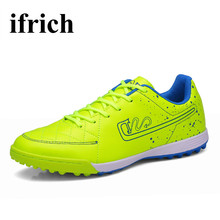 Mens Indoor Soccer Shoes Anti-Slippery Soccer Sneakers For Men Shockproof Football Shoes Kids White Blue Football Sneakers