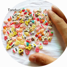 Tanduzi 50PCS DIY Mix Styles Flat Back Resin Food Cabochons Dessert Ice Cream Cake Skull Animal Jewelry Phone Nail Deco 5~9mm(China)