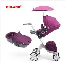 New Baby Stroller Fashion Pram Folding Carriage Suit for Sit and Lying European Stroller(China)