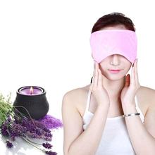 Comfortable USB Far Infrared Heated Sleep Mask Hot Compress Eye Warmer SPA | Warm Lavender Eye Mask Blindfold For Travel or Rest