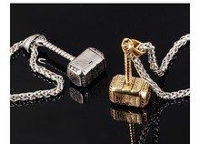 2018 New Fashion Jewelry Link Chain Character Thor's Hammer Pendant Domineering Men Cool Gifts Necklaces 316l Stainless Steel(China)