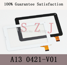 "new 7"" case for Capacitive digitizer touch screen panel glass for Ployer MOMO9 P702 A13 0421-V01 Tablet PC(China)"