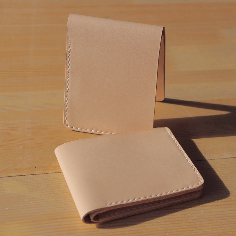 Free shipping super simple hand sewn cowhide tanned leather wallet short wallet cattle<br><br>Aliexpress