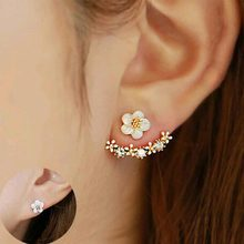 Tomtosh 2016 Korean Fashion Imitation Pearl Earrings Small Daisy Flowers Hanging After Senior Female Jewelry Wholesale(China)