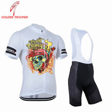 Golden Trooper Bike Team Top Cycling Jersey Ciclismo Mtb Outdoor Bicycle White Color Clothing Cheap Free Shipping(China)