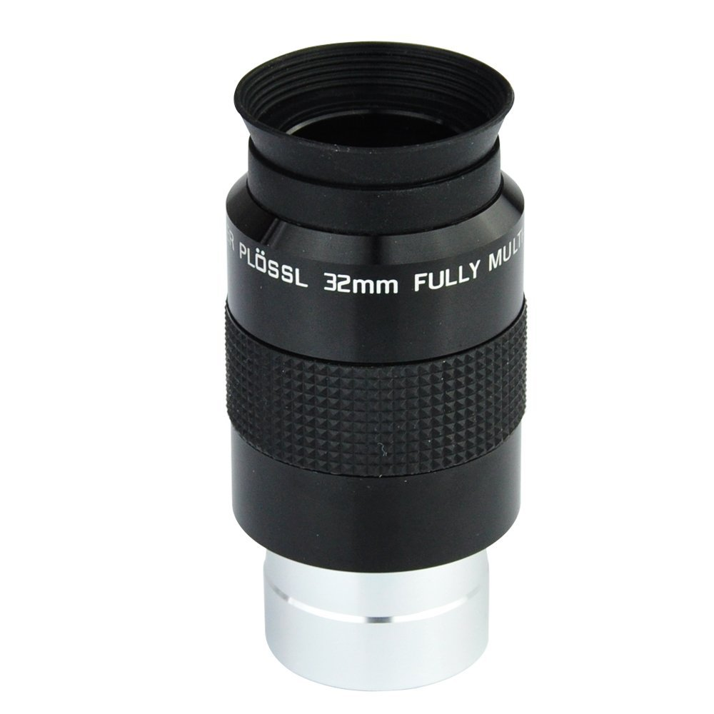 Telescope 1.25 Super Plossl Eyepiece 32mm (SPL Plossl Eyepiece) - 52 Degree FOV and 4-Element Design<br>