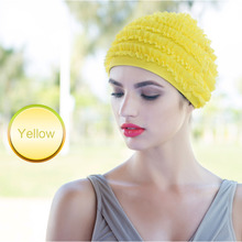 Durable Waterproof Swim Caps Adult Nylon Swimming Swim Lace Cap Bathing Hat Flexible Swimming Lace Cap drop shipping