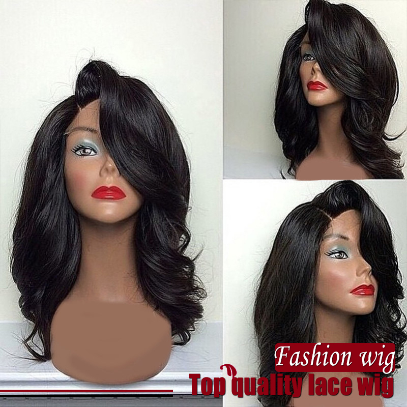 Side Part Glueless Wigs Body Wave Lace Front Wigs Heat Resistant Synthetic Lace Wigs Black Women Hair Wholesale<br><br>Aliexpress