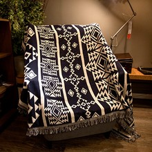 American style geometric pattern cotton blanket, wearable comforter , bed cover, pet blankets , sofa cover blanket